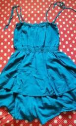 Título do anúncio: Vestido azul rodado