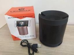 Caixa de Som Lehmox Q3 Bluetooth com Suporte Para Celular