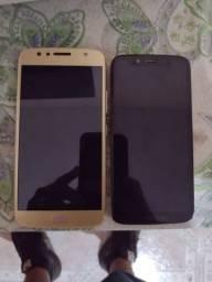 Dois telefones usados aceito cartão