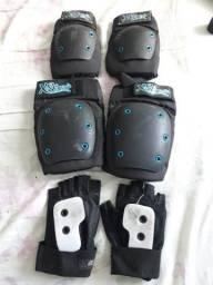 Kit de proteção skate ou patins