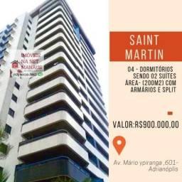Saint Martin 4 Dormitórios sendo 2 suítes com armários e splits 03 vagas