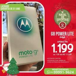 MOTOROLA MOTO G8 POWER LITE ( 64GB 4GB RAM ) AZUL PRETO ( LACRADO, NOTA FISCAL )