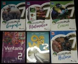 Livros Arariba plus 7° ano, editora moderna, 5° edição