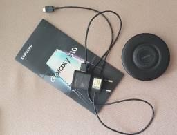 Smartphone Celular Samsung Galaxy S10 Preto 128GB com Acessórios Originais