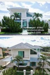 Duplex Ponta Negra I - 4 suítes piscina edícula - Mobiliada