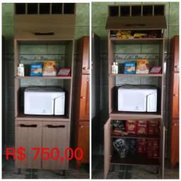 Armário de cozinha em MDF 1° linha com adega e dispensa