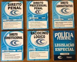Apostilas para concursos diversos, incluindo Polícia Federal
