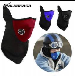 Máscara corta vento motociclista