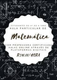 Aula particular de matemática (descrição)