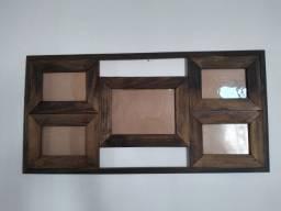 Porta retrato quadro de madeira
