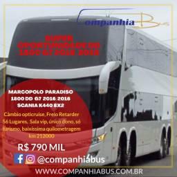 Ônibus Marcopolo Paradiso DD 1800 G7 2016 Scania k440 8x2 automático