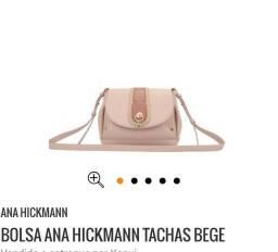 Bolsa de couro nude Ana hickmann
