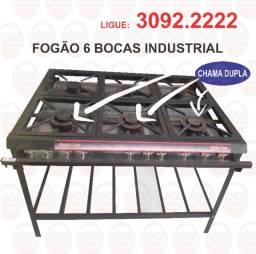 Fogão 6 bocas - ligue 3092.2222