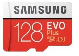 Título do anúncio: Cartão Micro Sd Samsung Evo Plus 128gb Classe 10 4k 100 Mbs