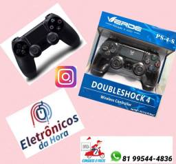 Controle Sem Fio  Dualshock 4 Preto - PS4 só zap