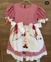 Vestido São João 12 meses