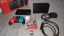 Título do anúncio: Nintendo Switch 32GB com 2 jogos (3 meses de garantia)