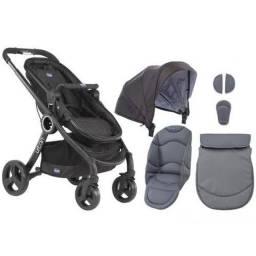 BARBADA-Carrinho Bebê Chicco Urban+color Pack cinza