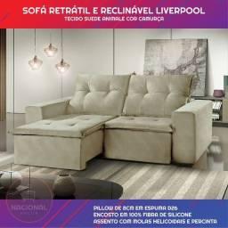 Sofá Retrátil e Reclinável 1,80mts - Pague em 12x