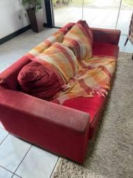 Título do anúncio: Sofá retrátil vermelho
