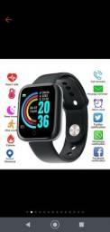 Relógio Smart Watch Y68 D20 com Bluetooth USB com Monitor