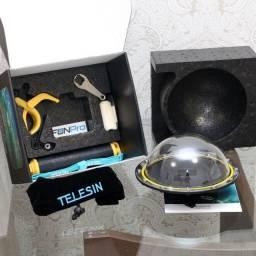 Dome Telesin 6 Polegadas GoPro Hero 5 6 7 Black com Bastão e Gatilho