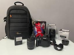 Câmera Canon T5i + 3 Lentes + Mochila