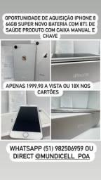 MUNDICELL IPHONE 8 64GB BRANCO ANATEL DESBLOQUEADO GARANTIA