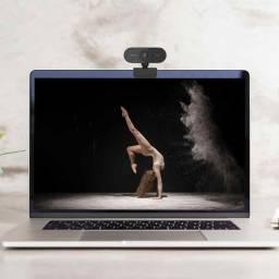 Webcam FullHD 1080P USB 360 graus Com Microfone e Redução de Ruído