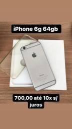 Iphone 6 64 gb com caixa e carregador