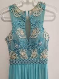 Vestido de Festa Longo Azul Bebê