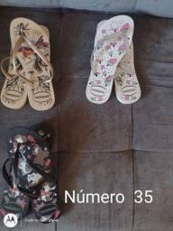 Chinelos várias numerações