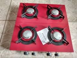 Fogão 4 bocas de mesa á gás alta pressão
