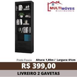 Título do anúncio: Estante Multiuso Livreiro Decorativo Verona 3 Cores 2 Gavetas - Entrega Grátis