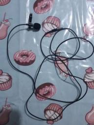 Microfone lapela de ferro entrada p2