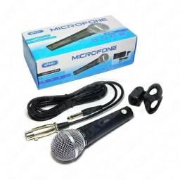 MICROFONE VOCAL CABO PROFISSIONAL COM ADAPTADOR PARA PEDESTAL