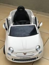 Mini veículo elétrico - Fiat 500 branco (semi-novo)