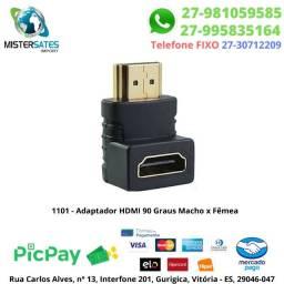 1101 - Adaptador HDMI 90 Graus Macho x Fêmea