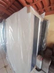 ::imperdivel cama box de casal 07 cm de espuma