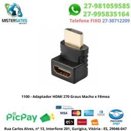 1100 - Adaptador HDMI 270 Graus Macho x Fêmea