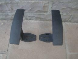 Par de braço fixo novo para cadeira de escritório - Valor ao par