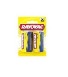 Pilhas Comum D2 Rayovac Amarelinha Grande