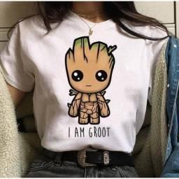 Camiseta Camisa Baby Groot Baby look