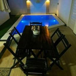 Mesas e cadeiras para árias de laser