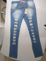 Título do anúncio: calça feminina jeans  44 novo