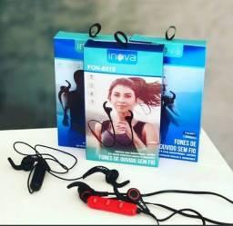 Fone De Ouvido Bluetooth Sem Fio Esportivo Inova (academia)