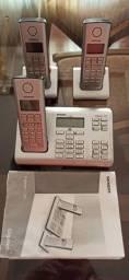 Aparelho telefone fixo com tres base