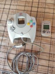 2 controle com 2 vmu Dreamcast