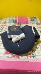Kit berço + almofada de amamentação + trocador portátil