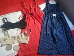 Camisolas e sutiã amamentação